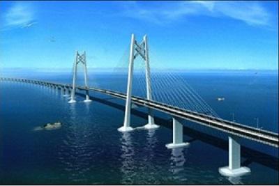 港珠澳大桥桥墩上安装了时代新材研制的橡胶隔震支座.-橡胶作用巨